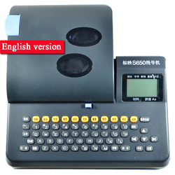 S650 linia znak drukarki angielska wersja nie podłączony do kabel komputerowy ID Printe rura pcv drukarka drut znak maszyna hot