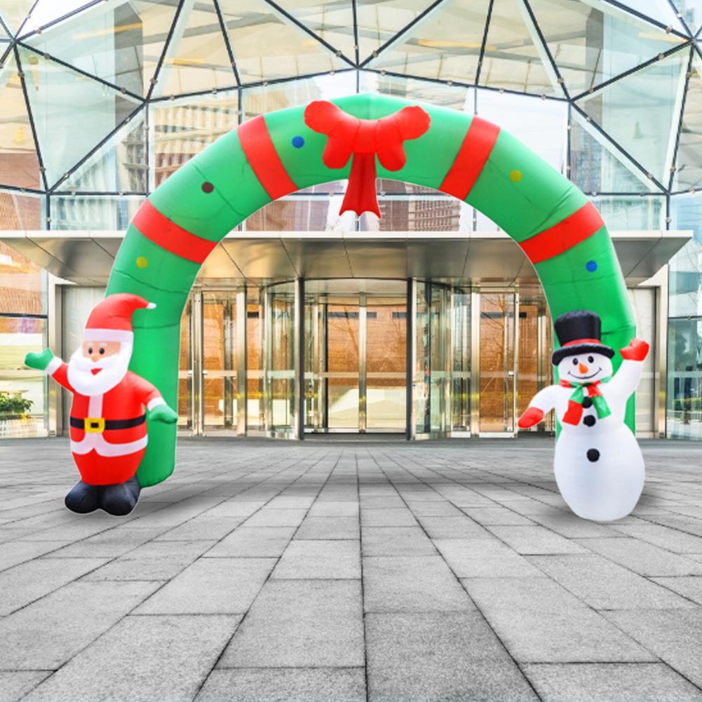 Estilo de natal Arcos de Balão Loja Casa Feliz Decoração de Natal Arco Inflável Papai Noel Xmas Party Ornamento 3D - 3