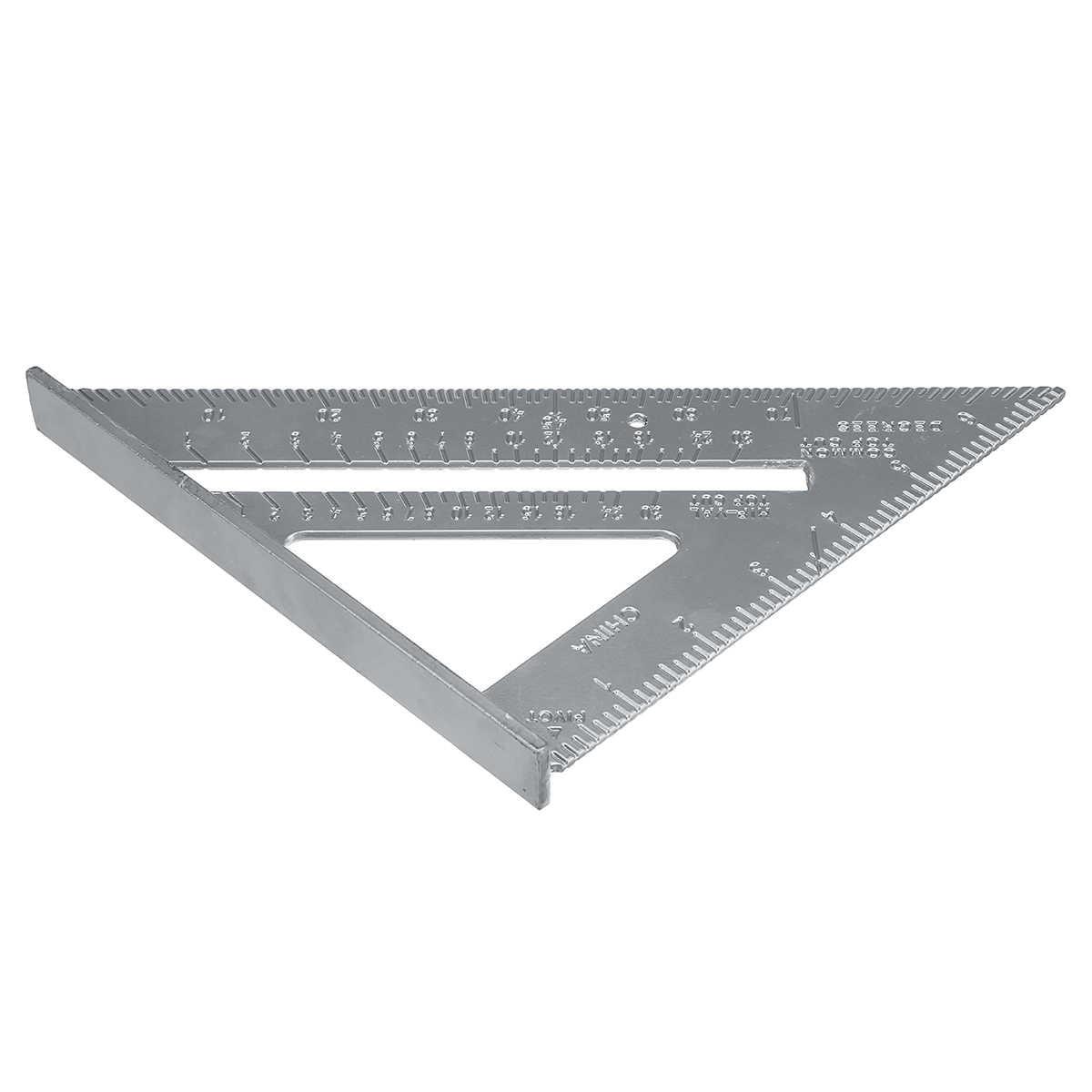 ZEAST 7 インチアルミ合金測定定規速度正方形屋根トライアングルアングル分度器トランメル測定ツール