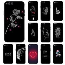 цена на Silicone Cover Case for Xiaomi Mi 6 Plus 5S 5C 3D DIY Black Painted Phone TPU Cover For Xiaomi Black SHark Fundas Coque Bumper