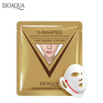 brand sheet mask face care facial chin V shaped lifting collagen face masks cosmetic firming whitening bioaqua beauty mask face creative japanese neoprene facial masks facelift mask supports pink germanium face sauna rubber mask women use shape 3d v face