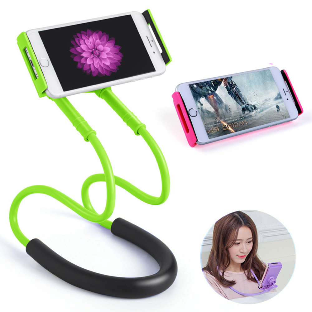 Flexible Mobile Phone Holder Hanging Neck Lazy Necklace Bracket Bed 360 Degree Phones Holder Stand For IPhone Xiaomi Smart Phone