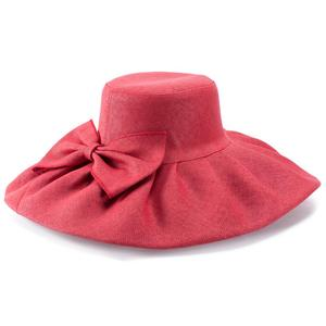 Image 4 - Straw UV protection Collapsible Sun Hat for Women Kentucky Derby Wide Brim Wedding Church Beach Floppy Hat Bow Detail A047