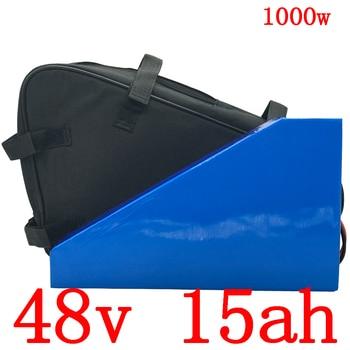 48V 500W 750W 1000W batería de litio 48V 15AH batería de bicicleta eléctrica 48v 15ah batería de iones de litio con 30A BMS y 54.6v 2A cargador