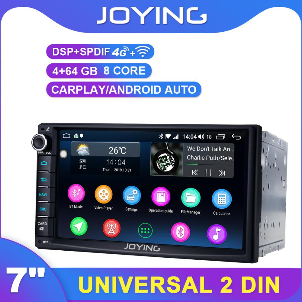 JOYING 7 inch 2 Din Touch Screen Bluetooth Universal 7851 GPS Car Radio Player Android head unit USB/SD/AUX/FM/AM stereo DSP 4G image