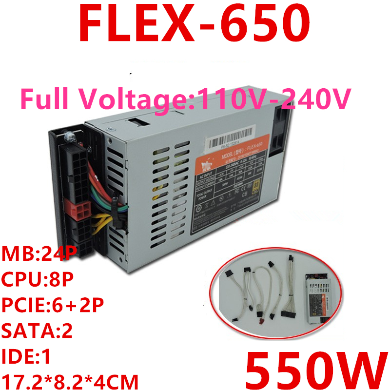 New PSU For XinHang ITX FLEX NAS Small 1U K39 K35 S3 M41M24 550W Power Supply FLEX-650