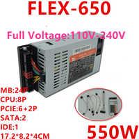 Nowy zasilacz do XinHang ITX FLEX NAS mały 1U K39 K35 S3 M41M24 550W zasilacz FLEX-650