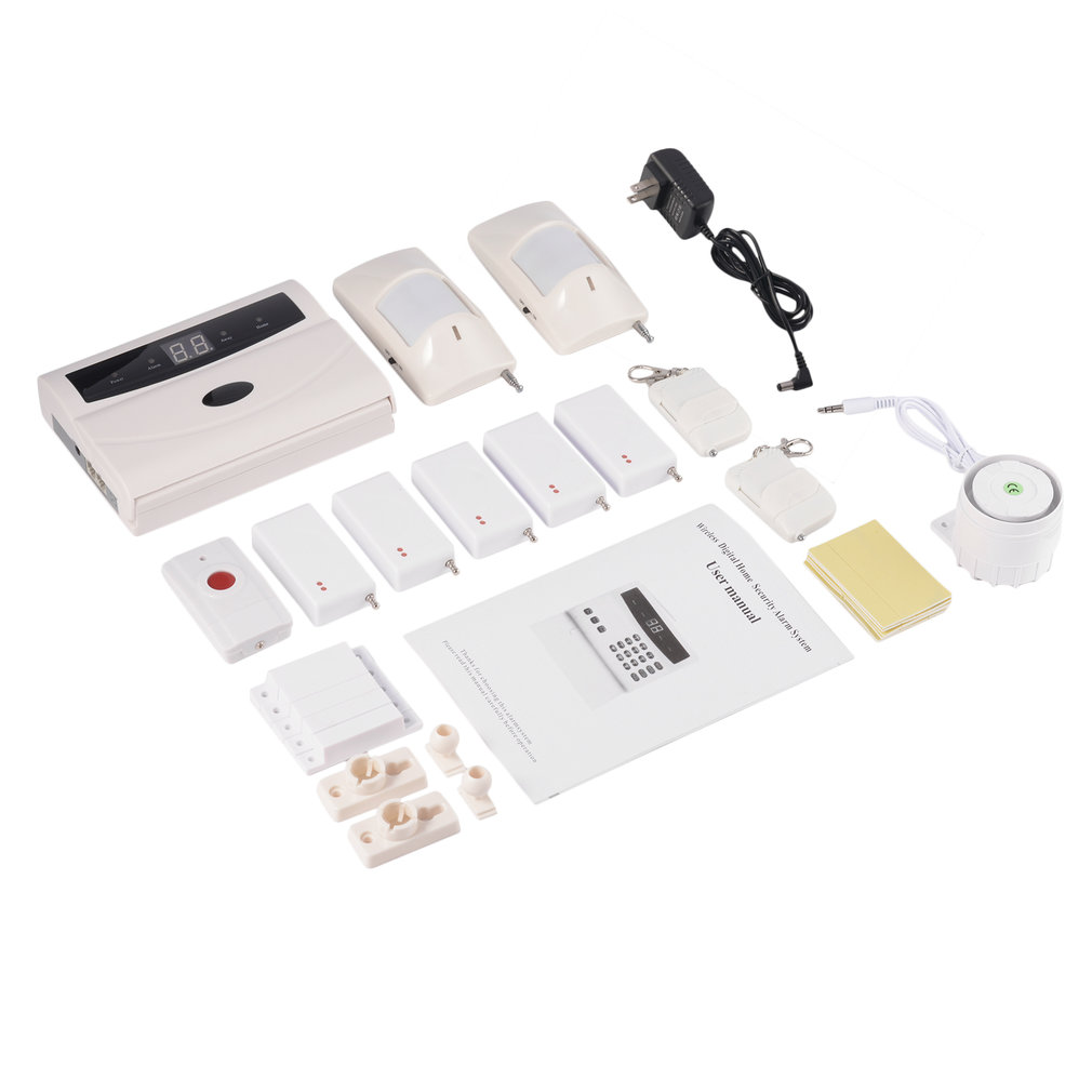 Wireless Home Business Security Alarm System DIY Kit With Auto Dial Motion Detectors Panic Button For Complete Security