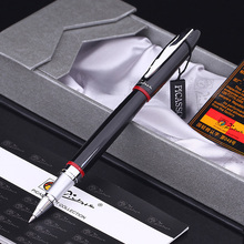 Pimio 907 Smooth Black and Red Rollerball Pen with Silver Clip High Quality Metal Ballpoint Pens with Original Case Gift Pen Set