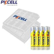 4 sztuk baterii PKCELL aa 2000mah 1.2v NIMH AA akumulatory i 1 sztuk AAA/uchwyt baterii AA box dla latarka zabawki