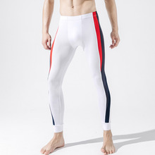 Compression-Pants Leggins Mens Tights Male Workout Training Stripes GYM Exercise Contrast