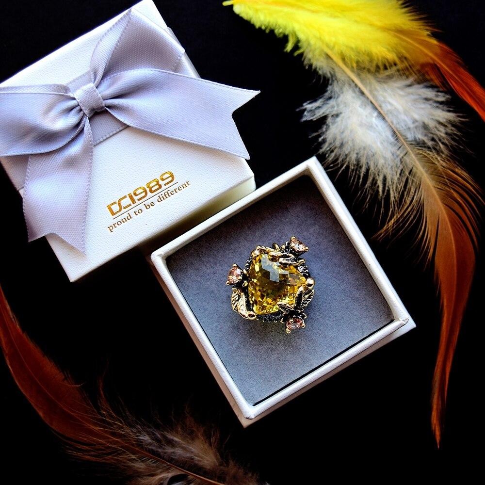 WA11668 golden color big zircon wedding ring women (7)