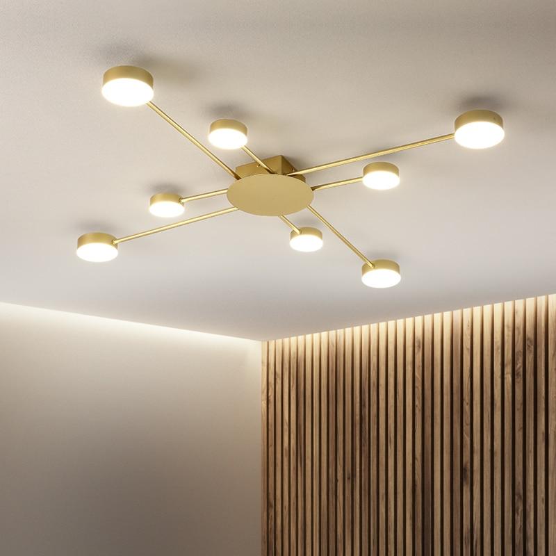 Novo led lustre para sala de estar quarto casa lustre por sala moderna conduziu a lâmpada do teto lustre iluminação - 5
