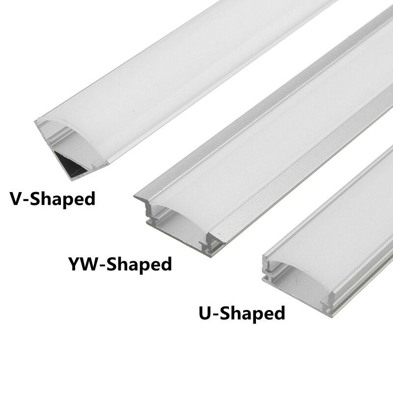 100cm u v yw alumínio canal titular canto conector para led tira barra de luz sob armário noite lâmpada cozinha 1.8cm de largura