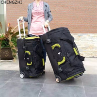 CHENGZHI 2732 inch large capacity rolling luggage spinner men travel trolley bags with wheels