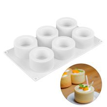 3d Silicone Mold 6 Holes Pudding Cupcake Art Cake Mould Baking Pastry Mousse Chocolate Dessert Mold Cake Decorating Tools silicone butterfly style baking mold dessert pastry decorating tools