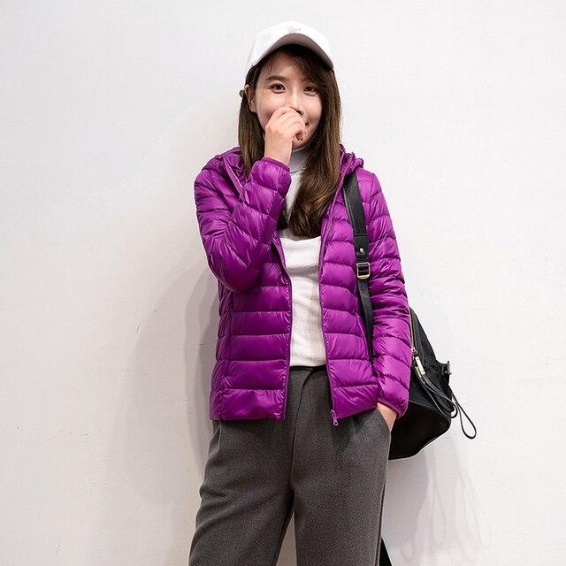 2019 New Brand 90% White Duck Down Jacket Women Autumn Winter Warm Coat Lady Ultralight Duck Down Jacket Female Windproof Parka 3