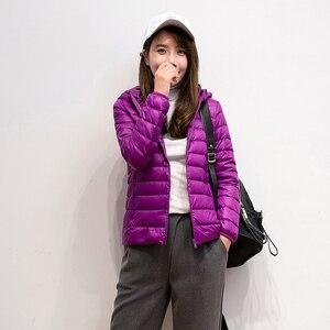 Image 3 - 2019 חדש מותג 90% לבן ברווז למטה מעיל נשים סתיו חורף חם מעיל גברת Ultralight ברווז למטה מעיל נשי Windproof parka