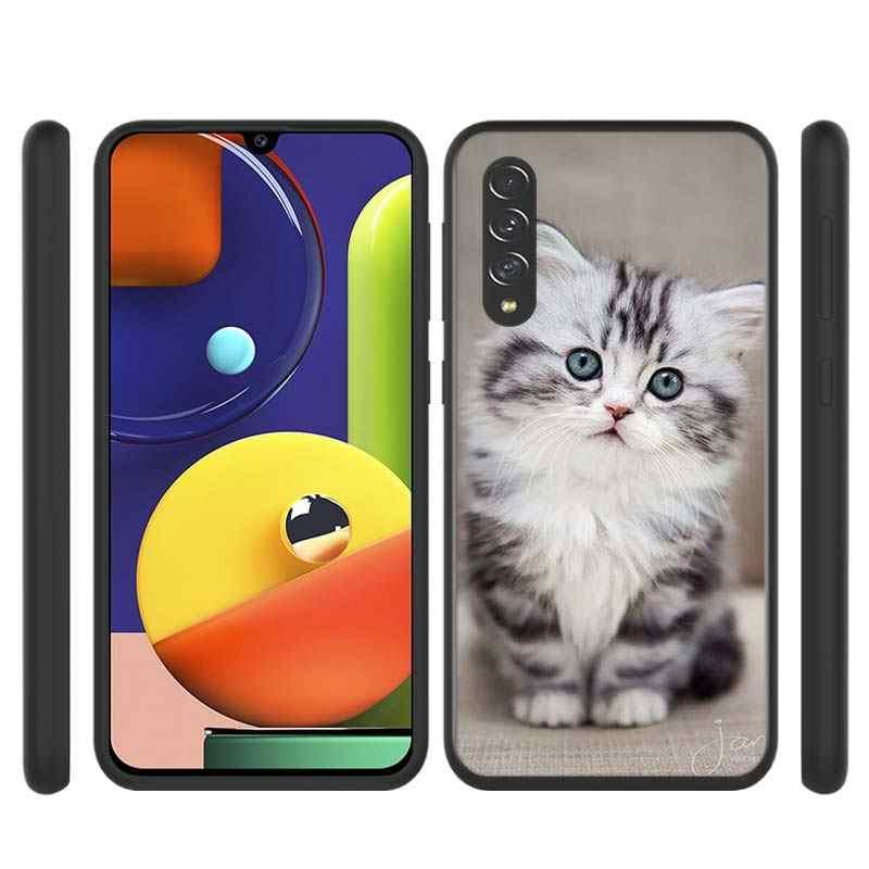 Komik yavru kedi tarzı Samsung Galaxy A90 5G A80 A70S A70 A60 A50S A40 A30 A20E A20 A20S a10S A10 telefon kılıfı