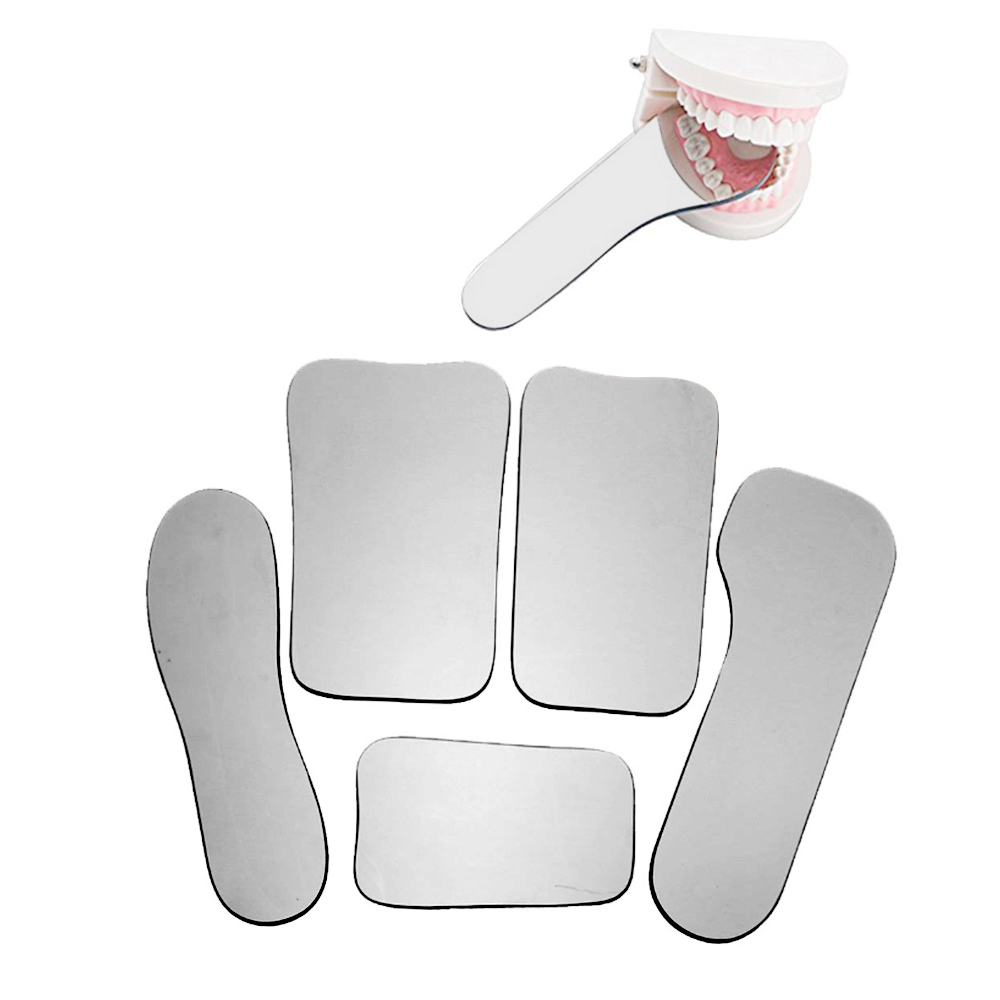 5 Pcs/Set Dental Orthodontic Dental Photography Double-Sided Mirrors Dental Tools Glass Material Dentistry