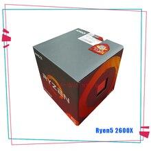 Neue AMD Ryzen 5 2600X R5 2600X3,6 GHz Sechs Core Zwölf Gewinde CPU Prozessor YD260XBCM6IAF Buchse AM4 Mit Kühler Lüfter