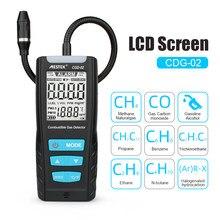 LCD analyseur de gaz compteur automobile capteur de gaz Combustible détecteur de qualité de l'air moniteur détecteur de fuite de gaz avec alarme de choc sonore