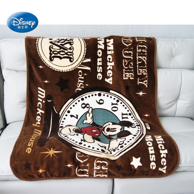 Disney-Cartoon-Brown-Mickey-Mouse-Thick-Soft-Flannel-Blanket-Throw-for-Baby-Kids-on-Bed-Sofa