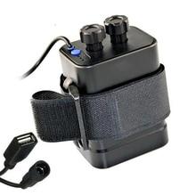 עמיד למים 6x18650 סוללה מקרה תיבת 12V 8.4V DC USB 2 יציאות 18650 סוללה תיבת אחסון בעל עבור אופניים LED אור Mobiel טלפון