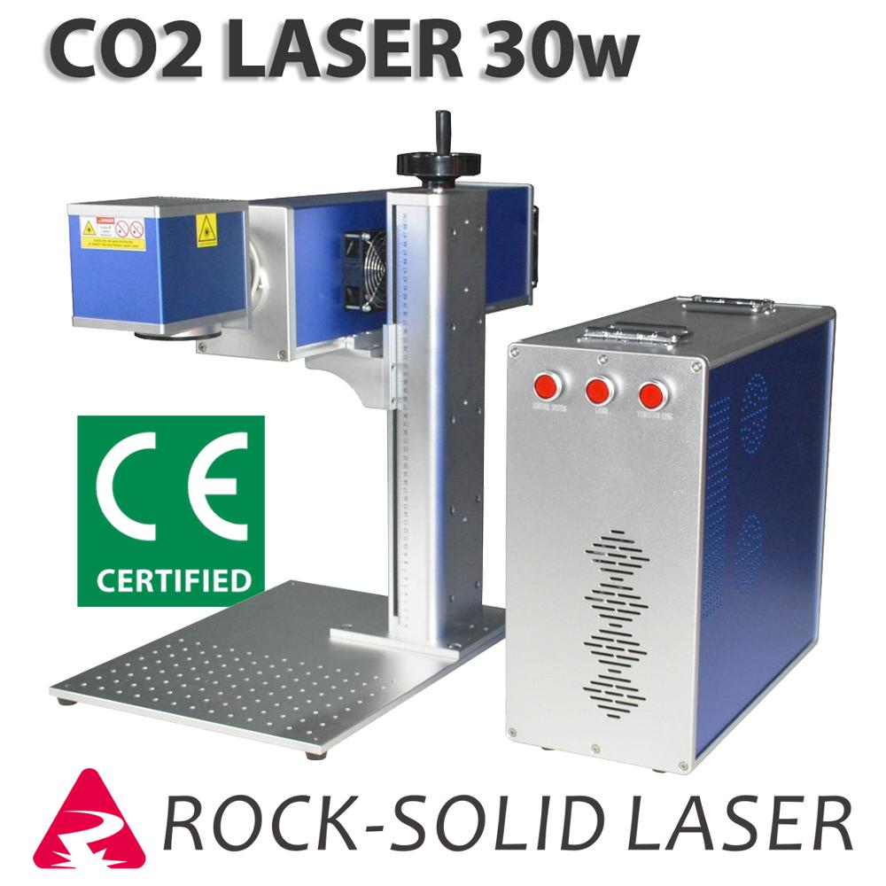 30W CO2 Laser Engraving Marking Machine RF Metal Tube Laser Mark Wood Leather Acrylic Paper Plastic Fabric Glass Ceramic Rubber