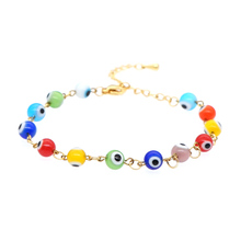 GO2BOHO Bracelet For Women Evil Eye Lucky Bracelets Bijoux Femme Jewelry Stainless Steel Chain Colorful Bead Bohemian Armband colorful gold bracelets baby kids jewelry baptism kinder armband bijoux enfants pulseira bebe bracciali bambini gift child b0929
