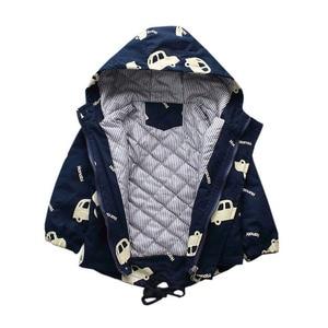 Image 4 - Benemaker Kinderen Winter Outdoor Fleece Jassen Voor Jongens Kleding Hooded Warm Bovenkleding Windjack Baby Kids Dunne Jassen YJ023