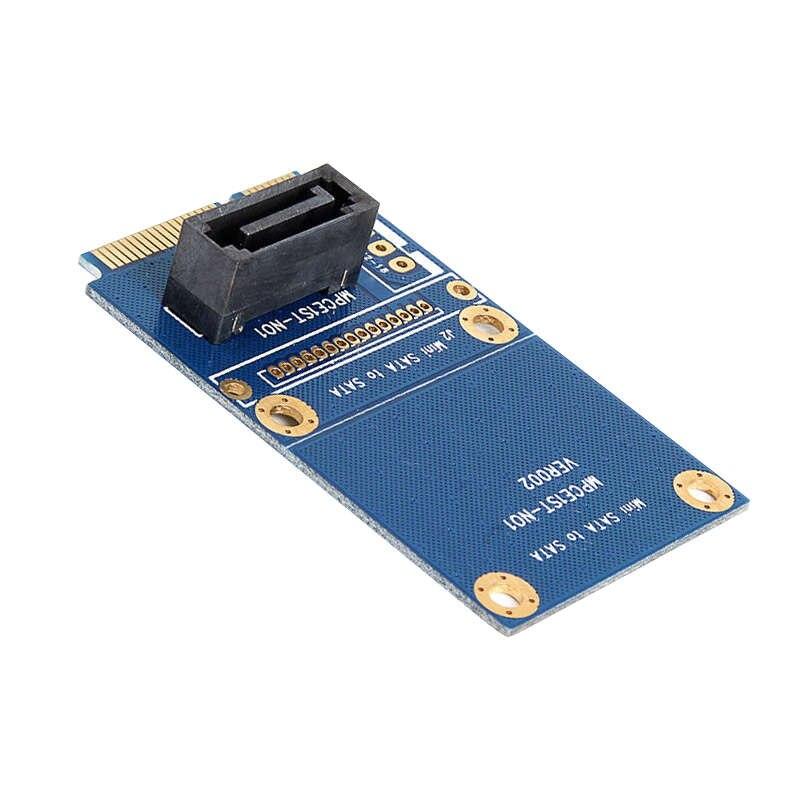 Msata Mini Pci-E Sata Ssd Slot To 7 Pin Sata Hdd Convert Card Adapter
