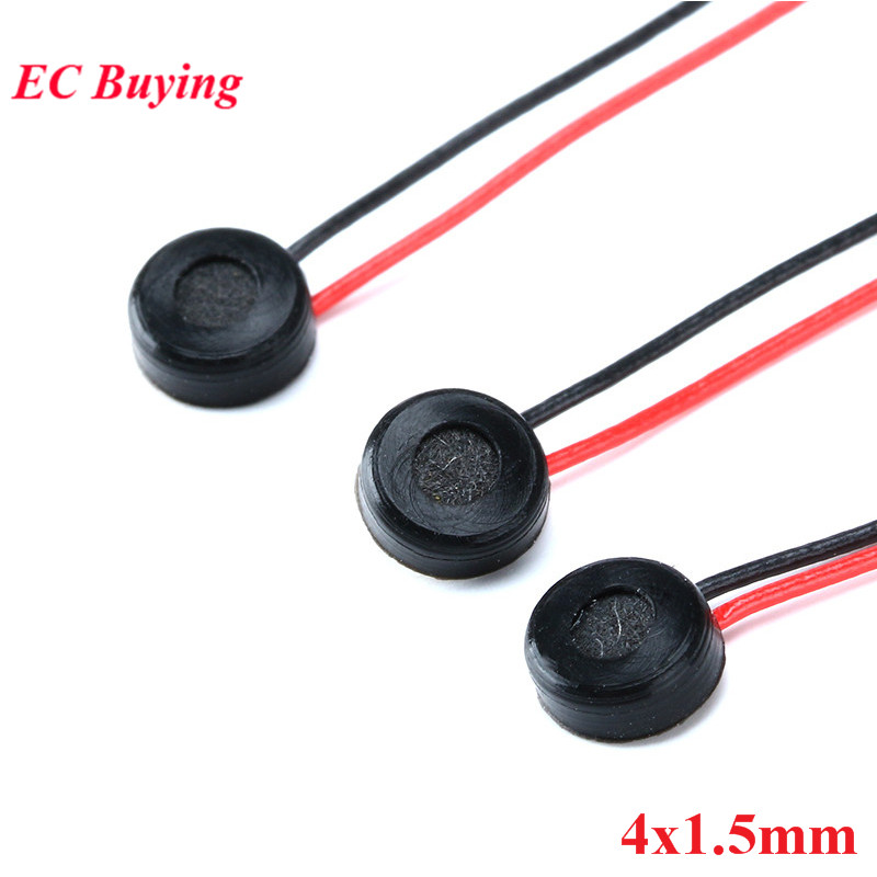 5pcs 4*1.5mm Electret Condenser MIC Capacitive Electret Microphone 4x1.5mm For PC Phone MP3 MP4 With 2 Leads Wire Length:5.5CM