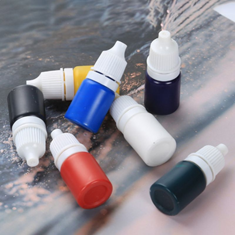 7 Pcs/Set Diy Jewelry Making Tool Resin Drops Highly Concentrated And Transparent Color Pure Oily Pigments Pigment Powder