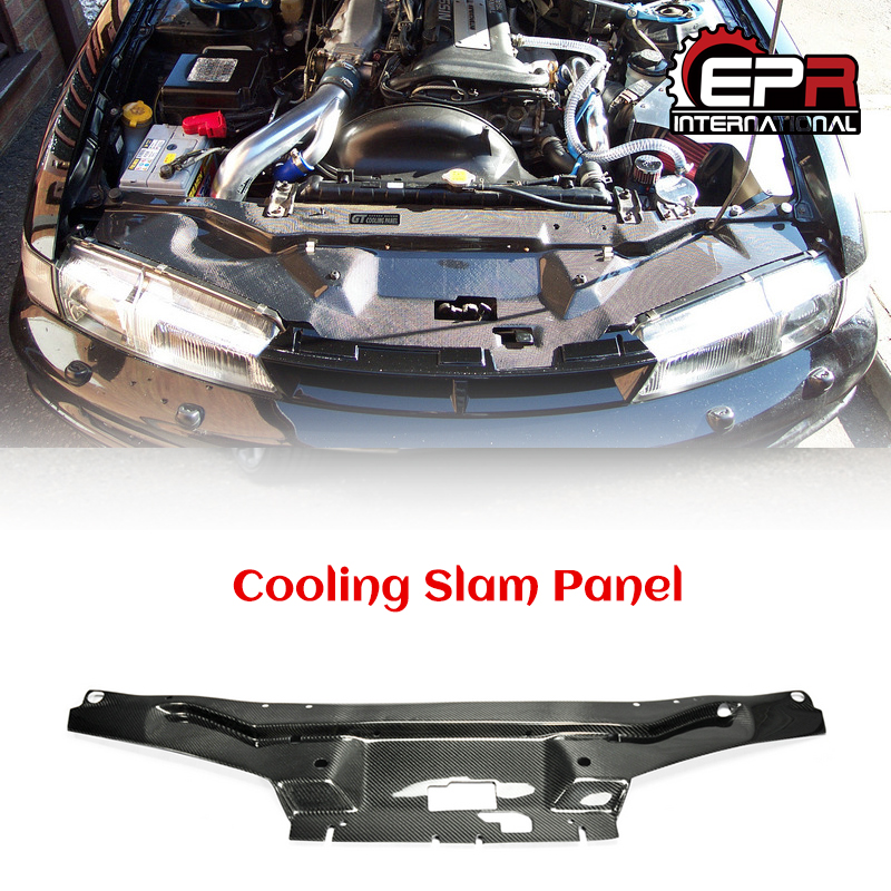 Car Cooling Slam Radiator Panel For Nissan 200SX Silvia S14 Carbon Fiber