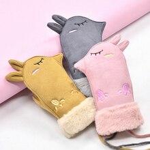 Winter Gloves Full-Finger-Mittens Girls Kids Children Cartoon Outdoor New Boy Velvet