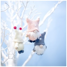 1PCS Cute Christmas Santa Claus Doll Pendant Ornaments For Party Xmas Tree Kids Gifts Home Decorations