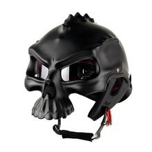 NEW Open Face Helmet Skull Motorcycle Helmet Retro Motorbike Half Face racing Helmet Moto Helmets