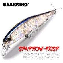 Bearking 10cm 15g modelo quente iscas de pesca duro 14 cores para escolher minnow qualidade profissional minnow depth0.8-1.5m