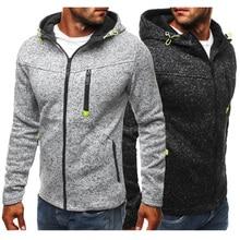 Fleece Pullover Sweatshirts Hoodies Running-Jackets Outdoor Autumn Sports Casual Fashion