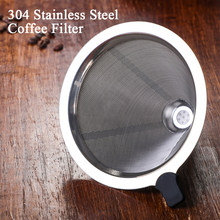Stainless Steel Coffee Filter for 400ML Coffee Pot Drip Kettle Dripper Pour Coffee Filter Maker Barista Tool(China)