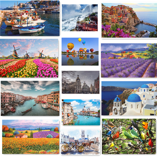 Jigsaw Puzzle Set 500 Pieces Various Landscape Patterns Jigsaw Puzzle Educational Toy for Kids Children 's Games Christmas Gift 1