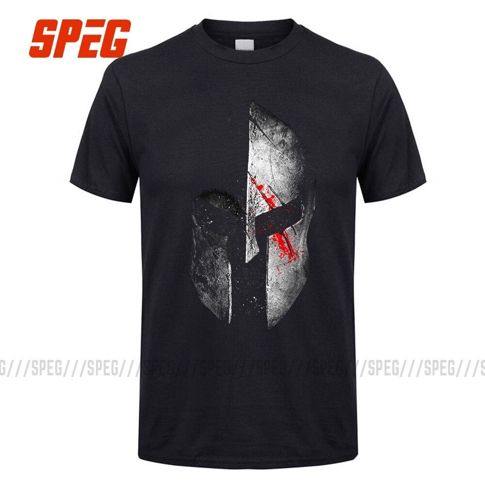 Vintage Sparta Helmet Short Sleeve Cool Molon Labe T Shirt Men Tee Male Harajuku 3XL Spartan Trojan Helmet Laurels Tshirt