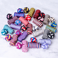Fashion Silk Knots Cylinder Cufflinks 18 Colors Cuff Button For Men Shirts Hat Shoes Wedding Gifts Business Sewing Decoration