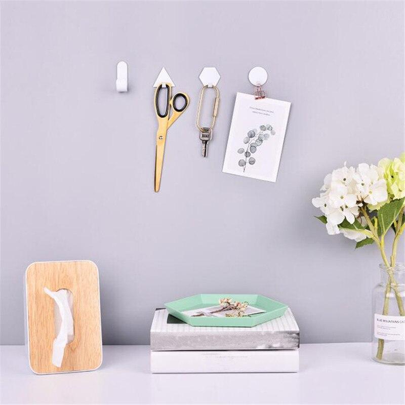 Настенные крючки для ванной, кухни, скандинавские креативные Твердые вискозные крючки, железные крючки геометрической формы