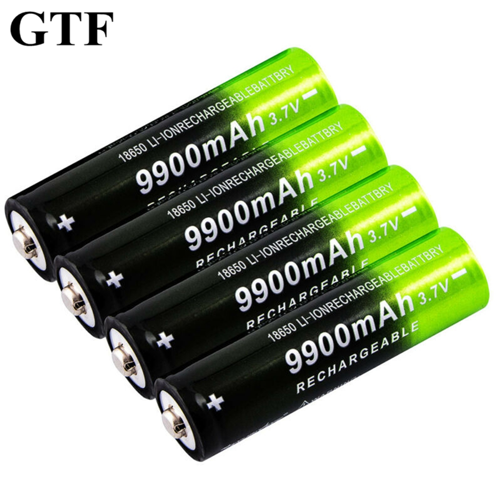 GTF <font><b>18650</b></font> 9900mAh Rechargeable Battery 3.7V Li-ion Rechargeable Battery For Flashlight Torch headlamp <font><b>18650</b></font> Li-ion Batteries image