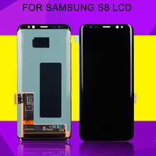 цена на HH Amoled G950 Lcd For Samsung Galaxy S8 Plus Display G955D G955 LCD Touch Screen Digitizer Assembly S8 LCD Display G950F LCD