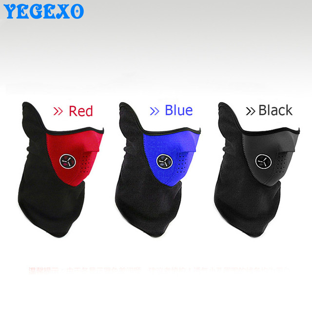 Motorcycle Anti Dust Half Face Mask Cover Unisex Outdoor Sports Windproof Winter Warm Protecting Neck Scarf Face Maske