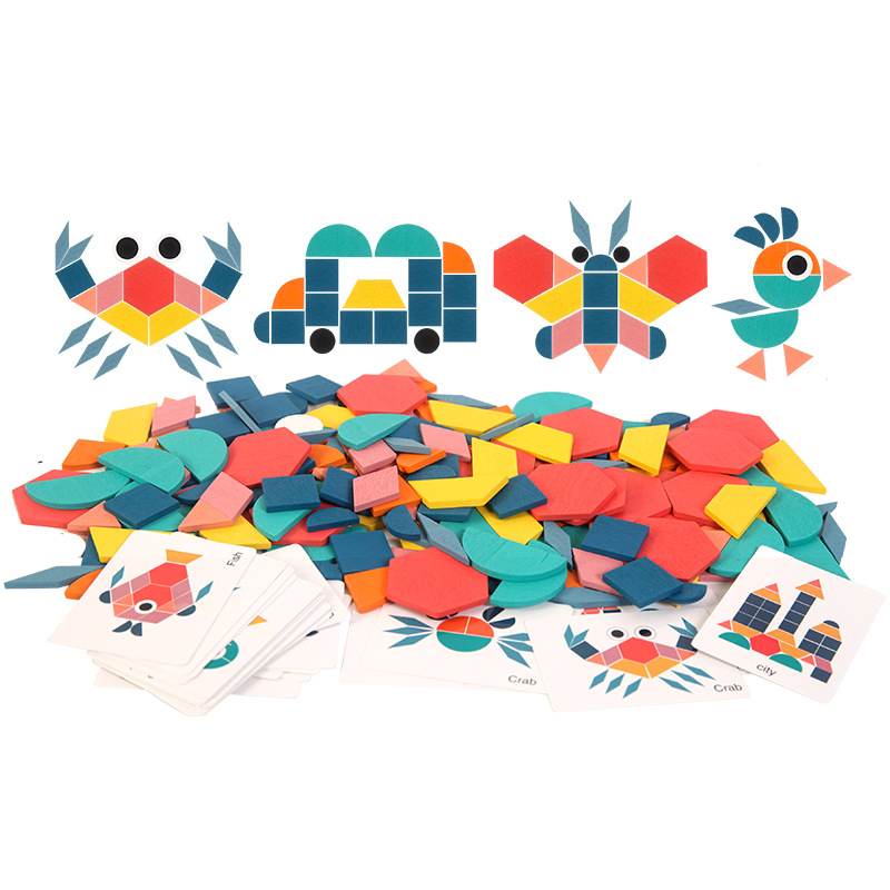New Kids Wooden 3D Jigsaw Puzzle Clever Board Baby Montessori Educational Learning Toys for Children Geometric Shape Puzzles Toy 4