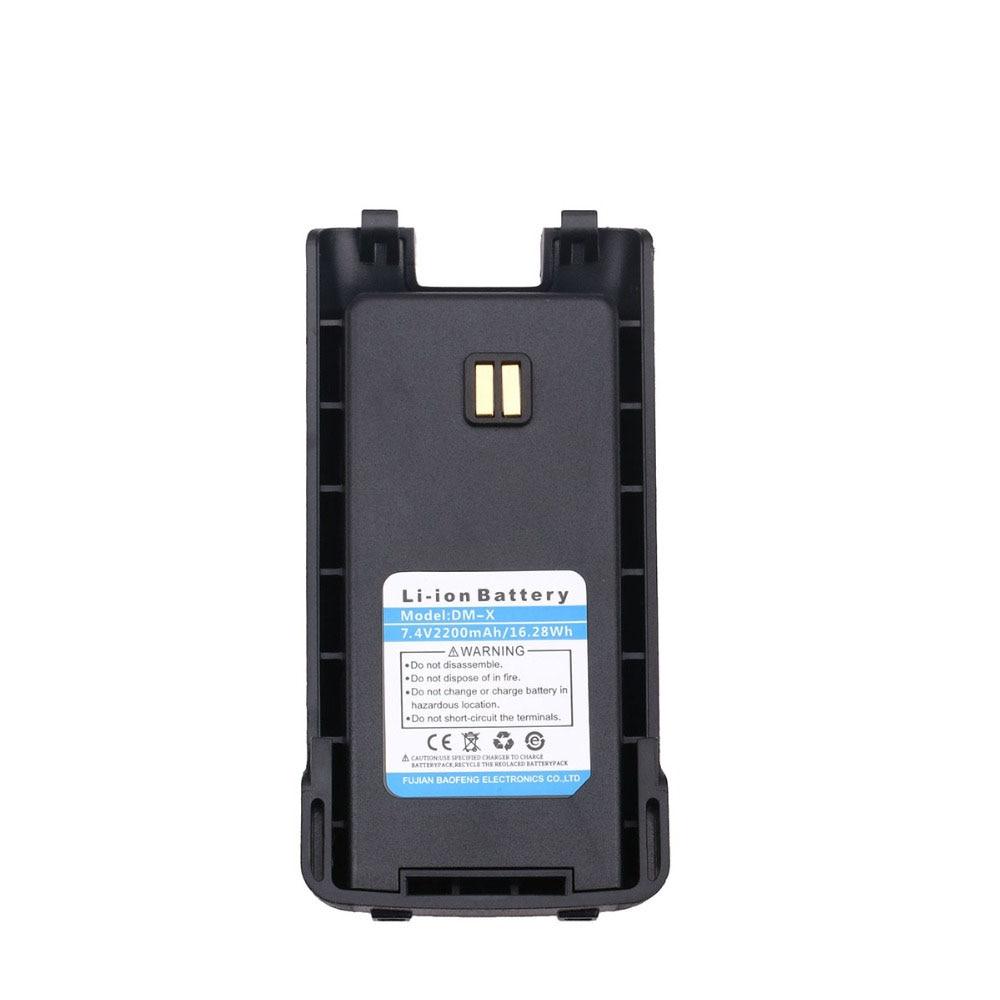 Original DM-X Battery 7.4V 2200 MAh Li-Ion Battery For Baofeng DM-X GPS DMR Digitale Analogico Walkie Talkie